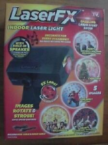 Decorative Laser Light with Built-In Speaker - Laser FX - Indoor