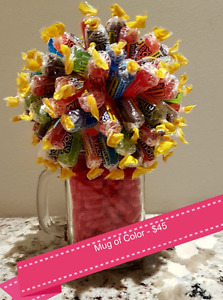 Need a gift? Mug of Color Candy Bouquet