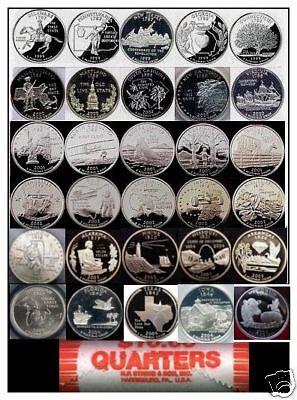 1999-2009 P&D SET COMPLETE 112 COINS BU STATE QUARTERS