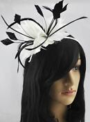 Black and White Fascinator Headband
