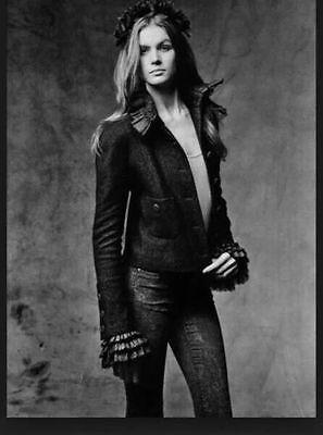 $6980 CHANEL Designer EDINBURGH 2013 Dark Gray Cashmere Linen Jacket Sz 46 NWT