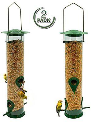 Sorbus Bird Feeder – Classic Tube Hanging Feeders (2 Pack)