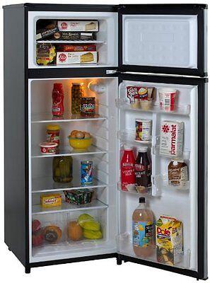 ثلاجة جديد Avanti RA7316PST 2-Door Apartment Size Refrigerator, Black with Platinum Finish