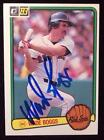 Wade Boggs Signed Card
