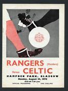 Celtic V Rangers Programme