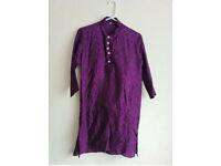 Boys Indian Fancy Kurta Pajama Sherwani Traditional Outfit Purple Age 9