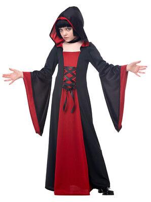Red Hooded Robe Girls Vampire Halloween Costume - Girls Vampire Halloween Costumes