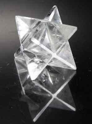 Merkaba Bergkristall Stern Groß 35 mm Edelstein