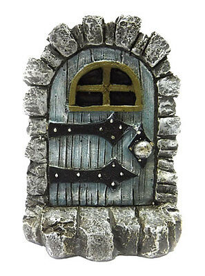 Miniature Medieval Blue Fairy Door Fairy Garden Hobbit Gnome Yard Art  3.25""