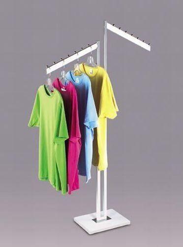 New 2 Way Clothing Rack Display Slant Arms White