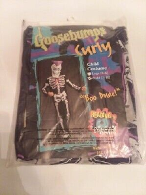 Vintage 1996 Goosebumps Slappy or Curly Child's Costumes 7/10 4/6 Disguise NOS