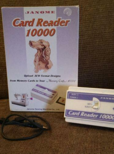 Janome embroidery cards ebay for Janome memory craft 9000 problems