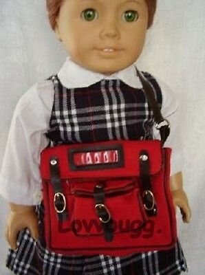 "Lovvbugg Book Bag Backpack for 18"" American Girl Doll Accessory"