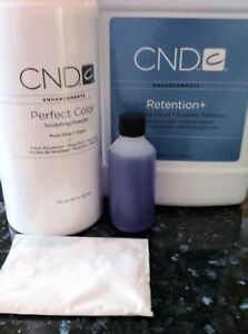 CND Creative acrylic retention Liquid 4oz +CND Pure Pink Powder 22g