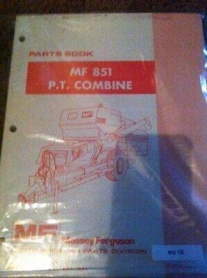 Massey Ferguson 851 Pt Pull Type Combine Parts Manual Catalog Nip