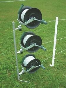 3 Reel Kit with Mounting Post for Electric Fencing