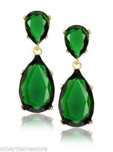 Kenneth Jay Lane Green Earrings Ebay