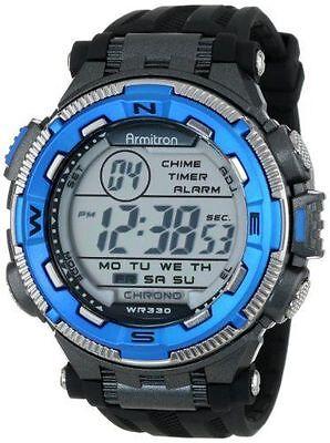 Armitron Sport Men's 40/8301BLU Blue and Silver-Tone Accente
