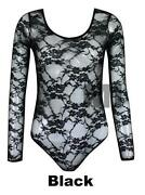 Long Sleeved Lace Leotard