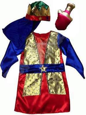 CHRISTMAS School Nativity Play 3 WISE MAN Men KING Fancy Dress Outfit Costume (3 Wise Man Kostüm)