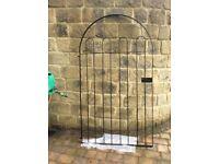 NEW Single Large Garden Gate Black Powder Coated