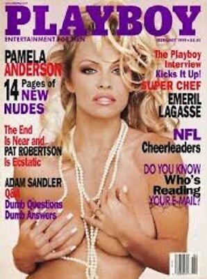 Playboy February 1999   Pamela Anderson   Nfl Cheerleaders   Emeril Lagasse Int