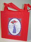 Handmade Tote Bag Red Unisex Bags & Backpacks