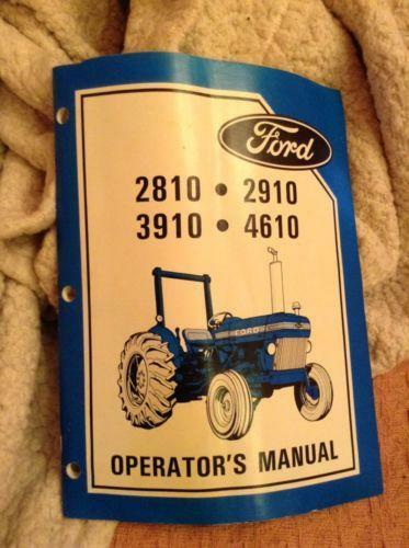 ford 2000 3000 4000 5000 tractor owners operators maintenance handbook manual download