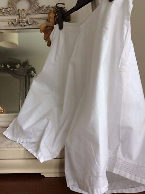 Antique French Bloomers ~ Lawn Cotton/Embroidery~Victorian new old stock, Unworn
