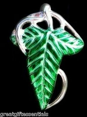 Rings Leaf Clasp - Lord Rings LOTR ELVEN BROOCH LEAF CLASP PIN Elf Legolas Frodo Green LICENSED USA
