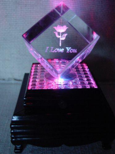 Laser Crystal Cubes Decorative Collectibles Ebay