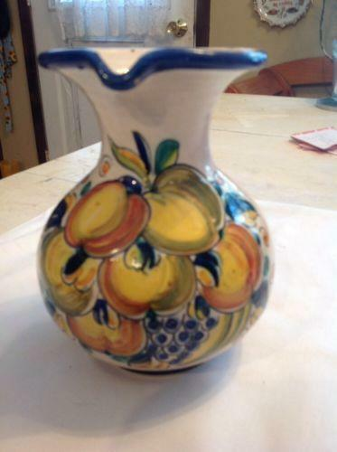 Hand Painted Pitcher Ebay