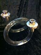 Lucite Candle Holders