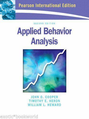 Applied Behavior Analysis Books  Ebay