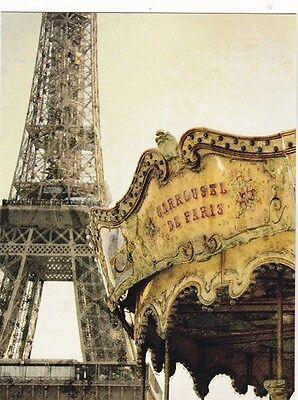 "*Postcard-""Carousel in Paris""  ...Classic- (B502)"