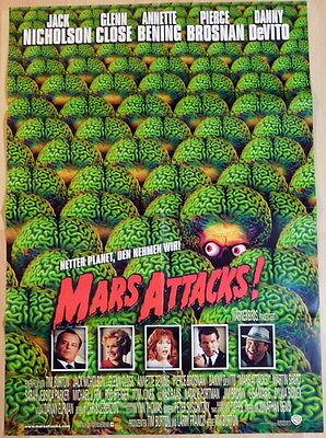 Tim Burton MARS ATTACKS original Kinoplakat A1 EA
