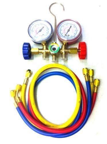 AC Manifold Gauge Set Air Conditioner Pump Service Kit R12 R22 R502 HVAC R134A