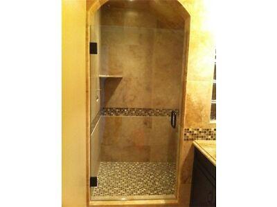 "Frameless Shower Door 3/8"" Glass/Machinery, Oil Rubbed Bronze"