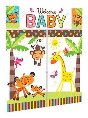 Welcome Baby wall banner decorating kit (5pc) Baby Shower Party Supplies