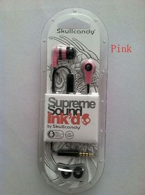 Pink Skullcandy Supreme Sound Ink'd 2.0 IN-EAR Earbuds Headphones With MIC