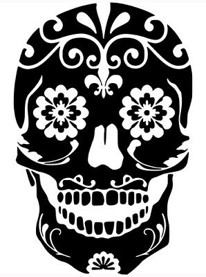 Sugar Skull Day Of The Dead Wall Car Truck Window Laptop Vinyl Decal - Day Of The Dead Stickers