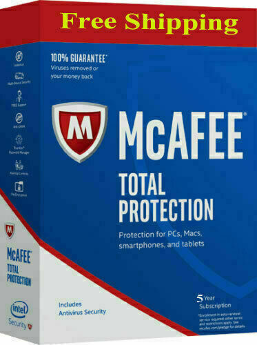 McAfee Antivirus Total Protection 2019 For 5 Years