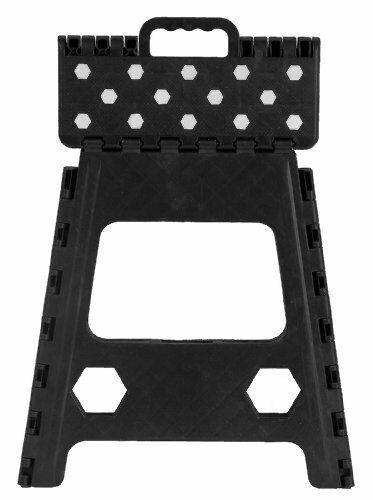 Anti Slip Folding Step Stool - 15 Inch Black Topselling