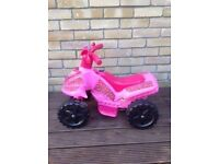 Kids 6v Quad Bike Pink