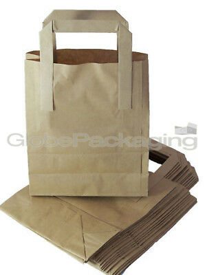 25 x SMALL BROWN KRAFT PAPER CARRIER BAGS 7
