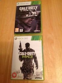 Call Of Duty MW3 And Call Of Duty Ghosts (XBOX 360)