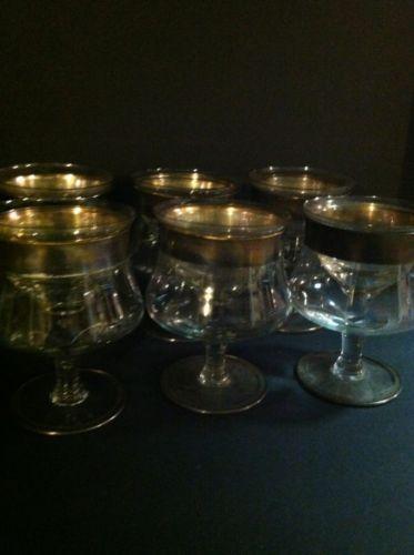 vintage shrimp cocktail glasses ebay. Black Bedroom Furniture Sets. Home Design Ideas