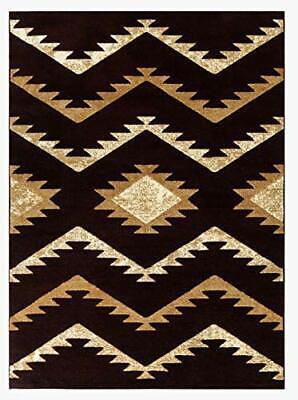 Newport  Style 77 Burgundy Southwestern Navajo Area Rugs Border Rugs 5x7 -