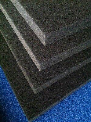 Filterschaum Filtermatte schwarz 100 x 50 cm, PPI & Stärke wählbar Koi Teich