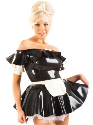 Latex maid costume